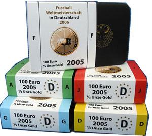 Euro Münzen Siewert Fussball Wm 2006 Fwm Deutschland Gold Silber